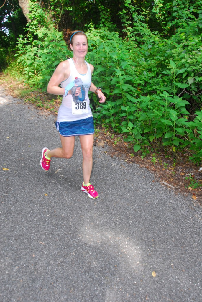 Happily running in circles! Photo courtesy of Jon Valentine / Annapolis Striders