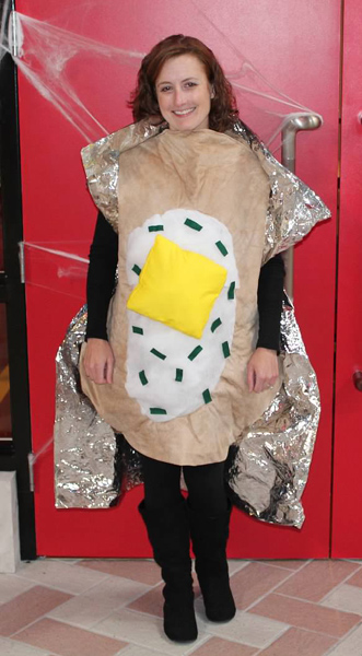 2012 -- I re-purposed Mr. Potato Head into a baked potato. I thought it was brilliant, but not everybody figured it out!