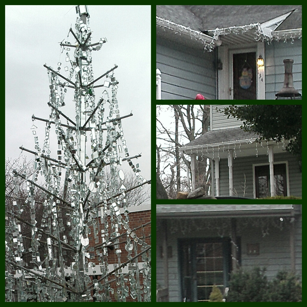 I ran past a house with ornaments hanging from a tree at least once a week. And at the last minute, they changed it to an Easter egg tree. Well, at least it was easy to find more!